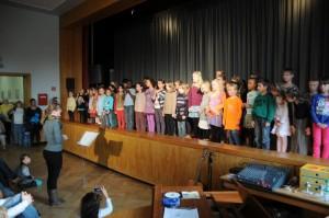 Choraufführung in der Aula
