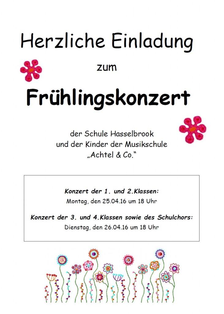 Einladung Frühlingskonzert 2016